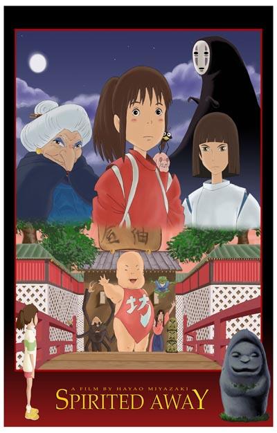 Spirited Away Cast Chihiro Yubaba Miyazaki 11x17 Poster   eBay
