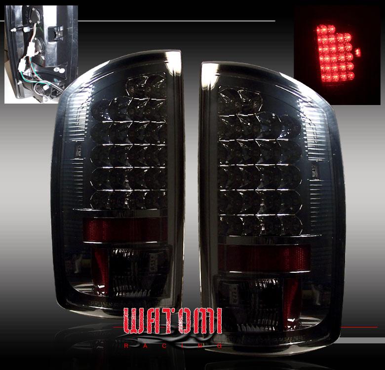 Black//Smoke For 2002-2006 Dodge Ram Pickup Aftermarket Tail Light Pair L+R