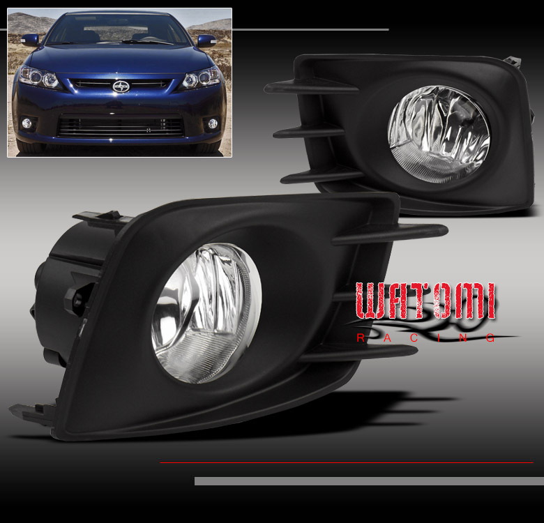 11 12 13 Scion Tc Bumper Driving Chrome Fog Light Lamp Kit