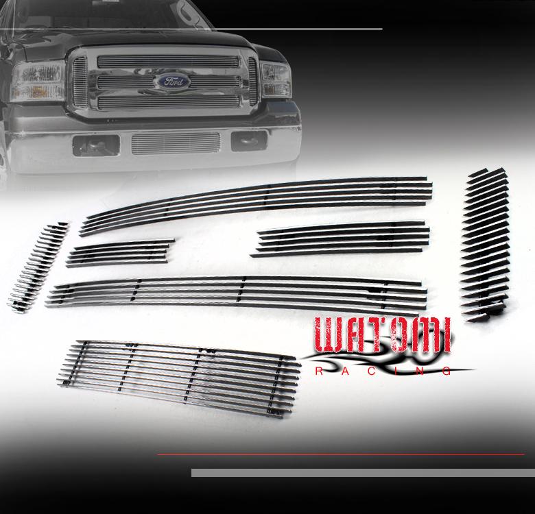 For 05-07 Ford F-250 F350 F450 F550 Excursion Billet Grille Upper Insert Fedar