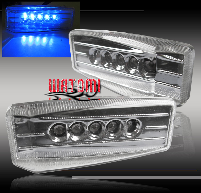 BLUE LED SIDE MARKER LIGHT LAMP FOR CRX INSIGHT EX35 FX45 I35 M35 OPTIMA SPECTRA