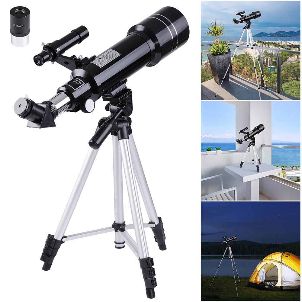 Details about 400x70mm Refractor Astronomical Telescope Eyepieces w/ Tripod  for Kids Beginners