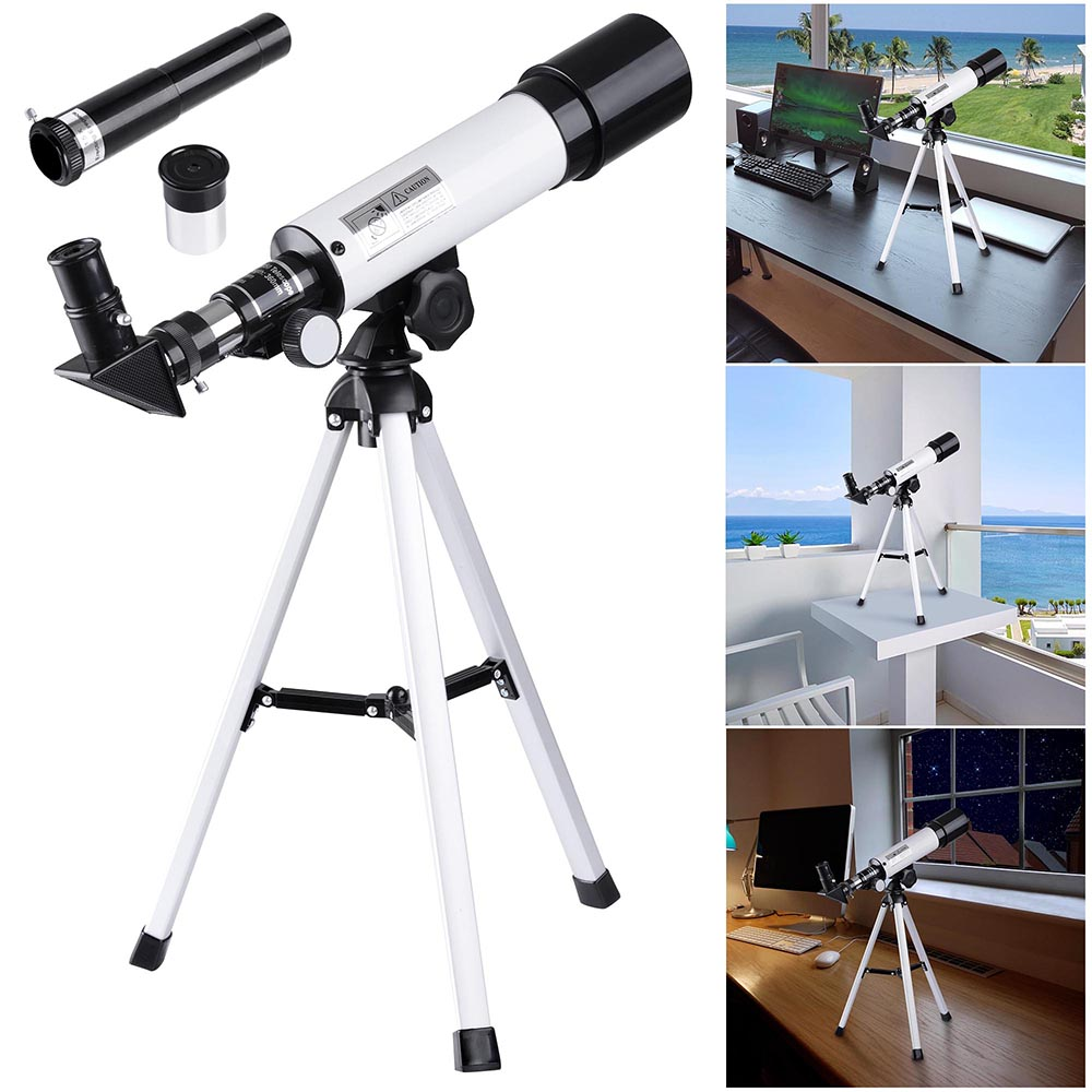 Details about 360x50mm Refractor Astronomical Telescope Eyepieces w/ Tripod  for Kids Beginners