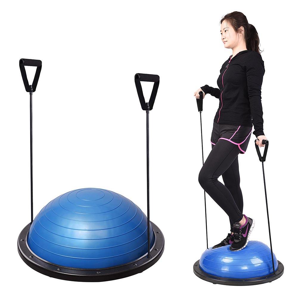 23-034-Yoga-Half-Ball-Balance-Trainer-Exercise-Fitness-Strength-Gym-Workout-w-Pump thumbnail 4