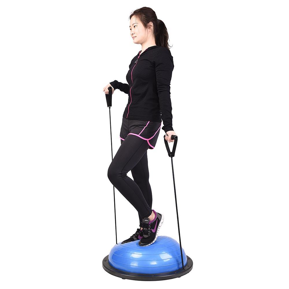 23-034-Yoga-Half-Ball-Balance-Trainer-Exercise-Fitness-Strength-Gym-Workout-w-Pump thumbnail 10