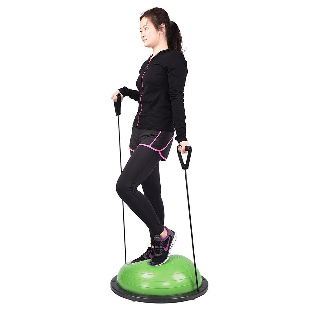 23-034-Yoga-Half-Ball-Balance-Trainer-Exercise-Fitness-Strength-Gym-Workout-w-Pump thumbnail 17