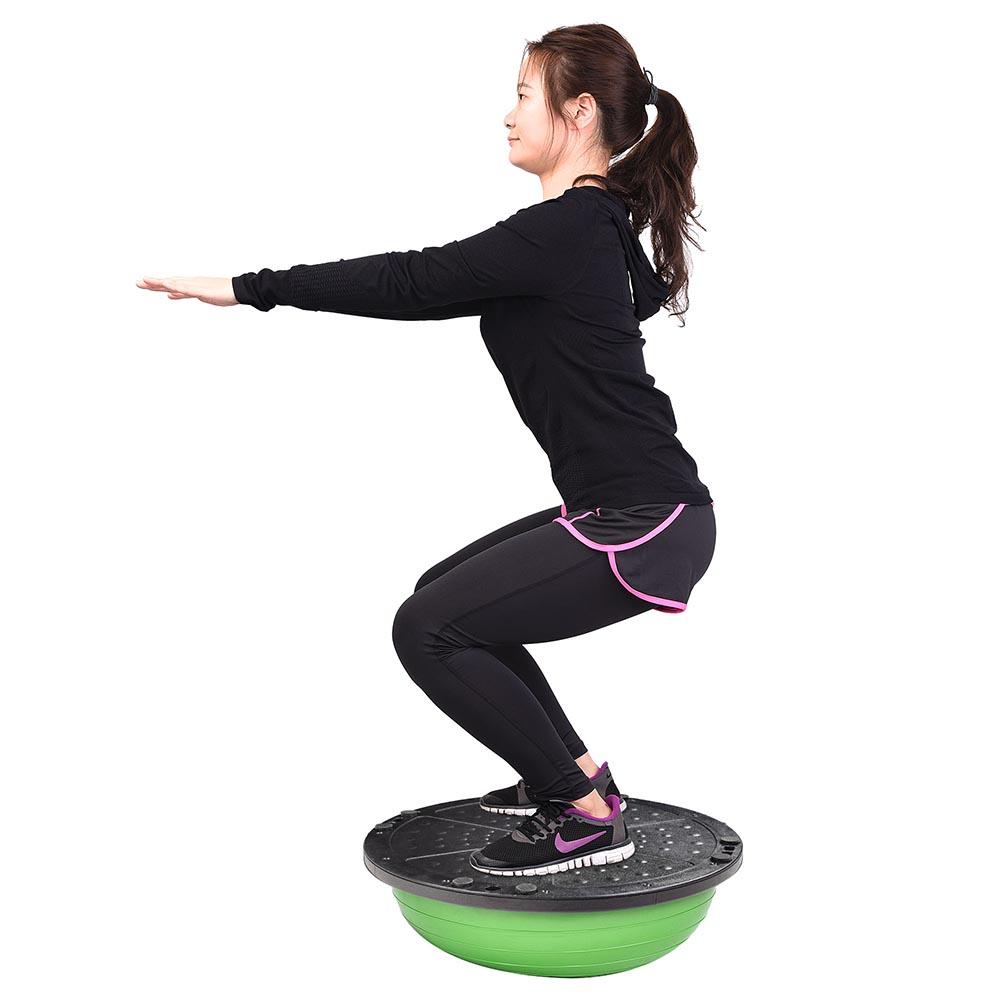 23-034-Yoga-Half-Ball-Balance-Trainer-Exercise-Fitness-Strength-Gym-Workout-w-Pump thumbnail 18