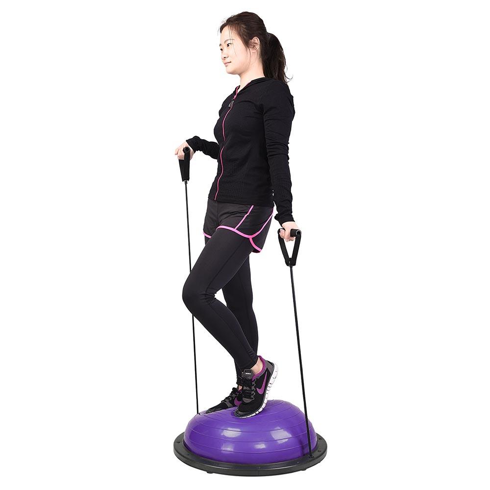 23-034-Yoga-Half-Ball-Balance-Trainer-Exercise-Fitness-Strength-Gym-Workout-w-Pump thumbnail 41