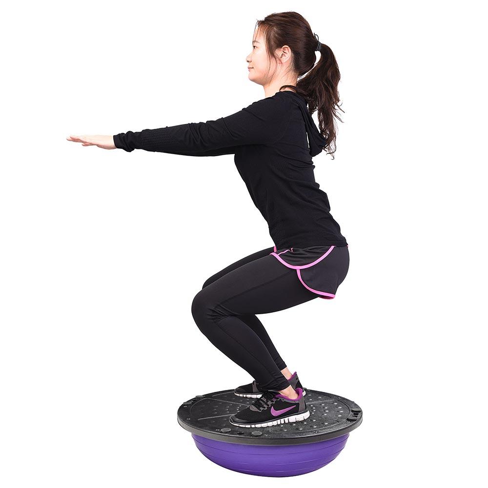 23-034-Yoga-Half-Ball-Balance-Trainer-Exercise-Fitness-Strength-Gym-Workout-w-Pump thumbnail 42