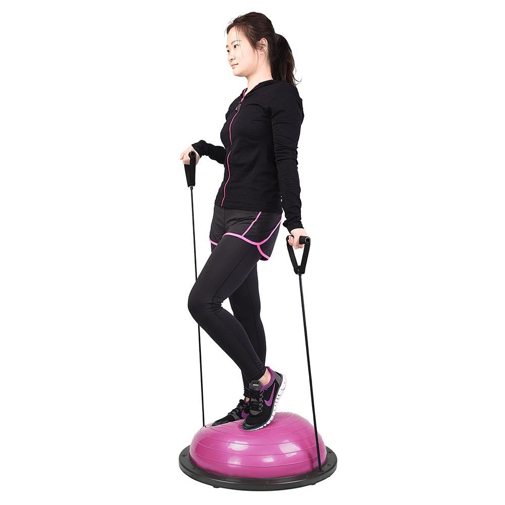 23-034-Yoga-Half-Ball-Balance-Trainer-Exercise-Fitness-Strength-Gym-Workout-w-Pump thumbnail 33