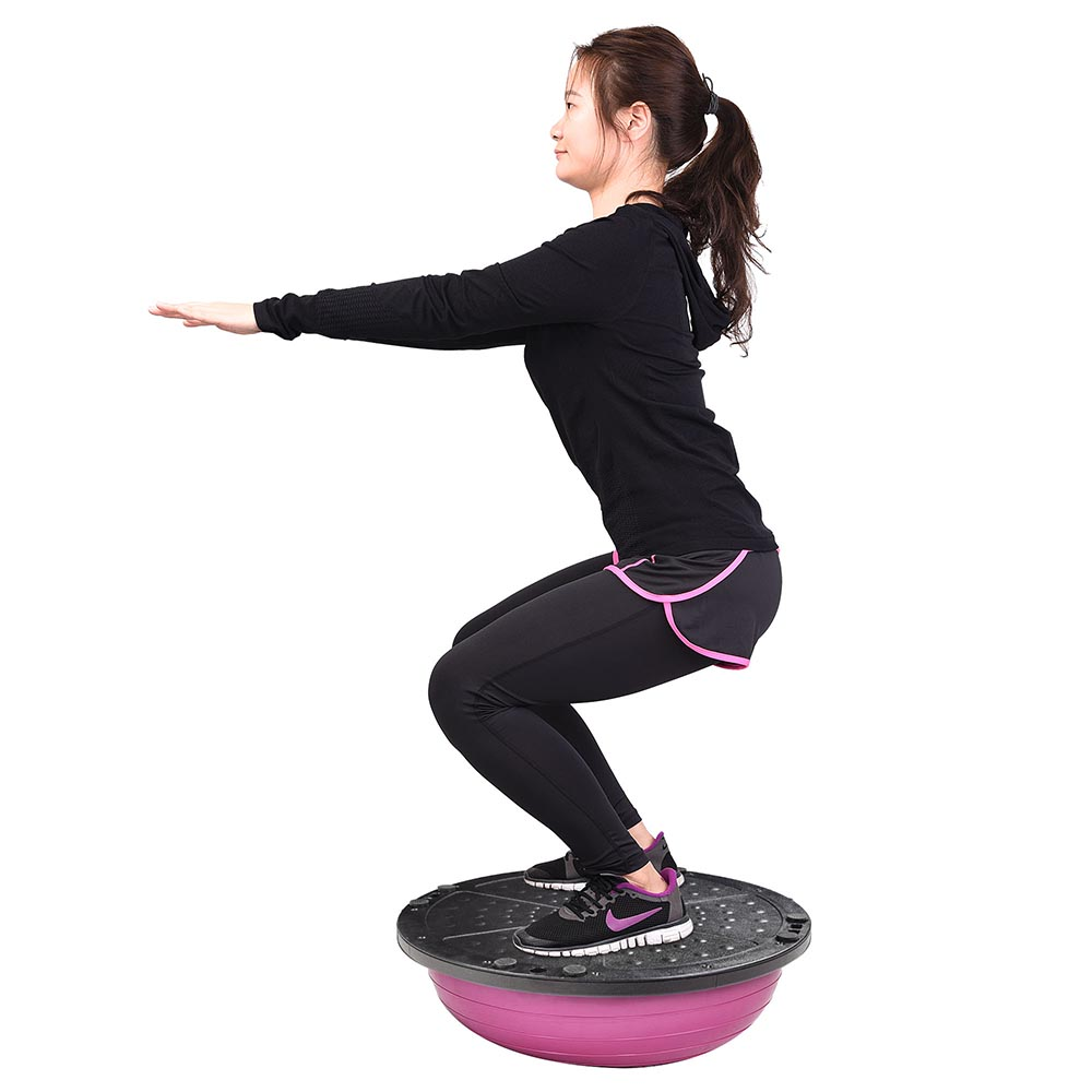23-034-Yoga-Half-Ball-Balance-Trainer-Exercise-Fitness-Strength-Gym-Workout-w-Pump thumbnail 34