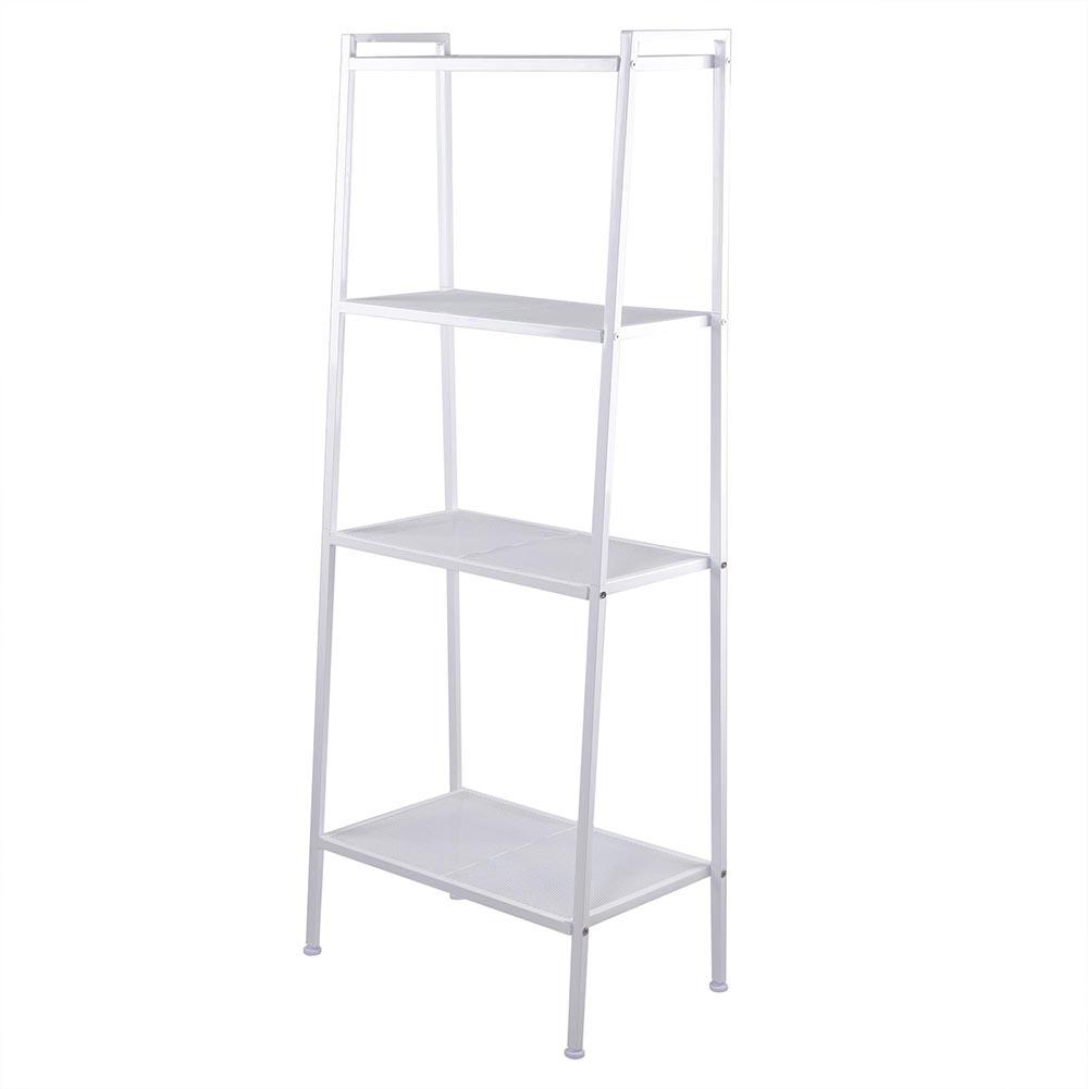 4-Tier White Wall Shelf Bathroom Space Saver Organizer Metal Shower ...