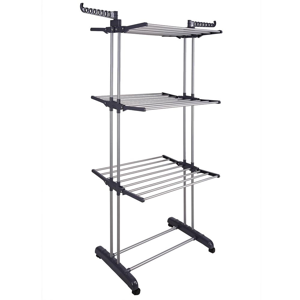 store clothes container accessories polder s aluminum rack racks laundry cloth the drying
