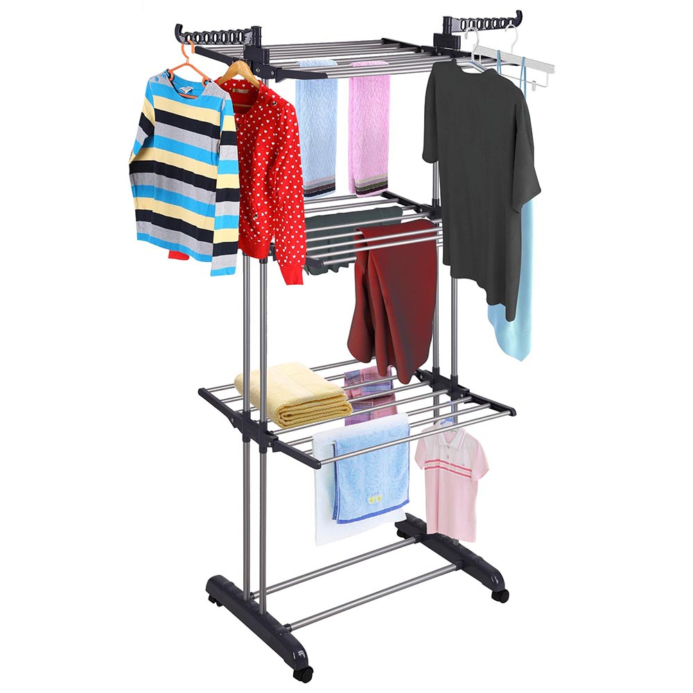 ca household clothes indoor wooden pwl and folding kitchen home bamboo hang dp drying rack tall amazon dry essentials laundry