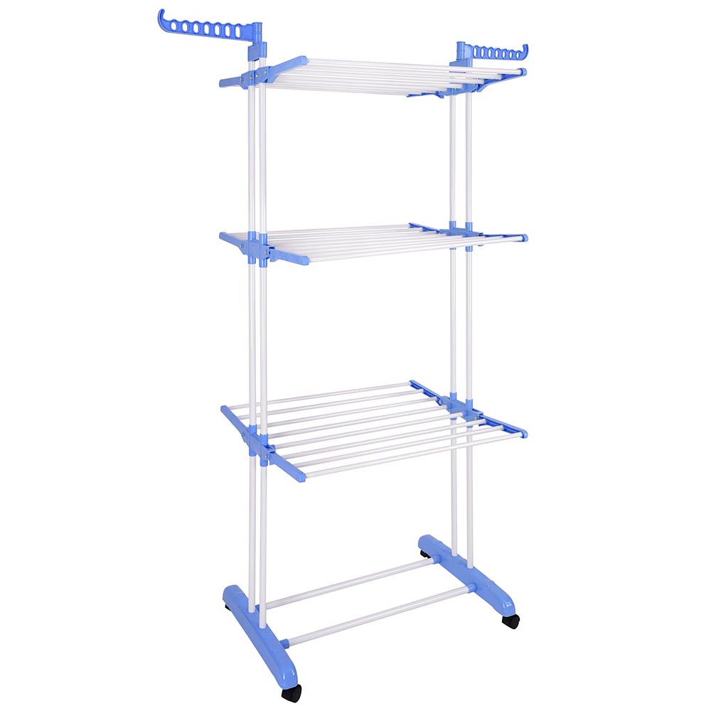 3 Tier Clothes Drier Stainless Organizer Folding Drying Rack