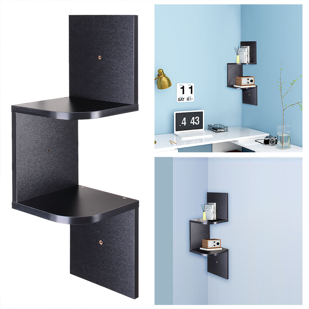 Ordinaire 2 3 5 Tiers Wall Corner Wood Shelf