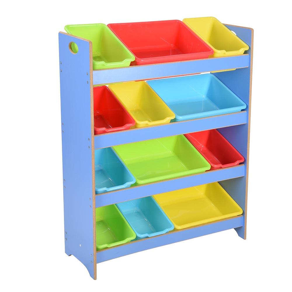 Wood Effect Kids Playroom Bedroom Storage Chest Trunk: Toy Bin Organizer Kids Childrens Storage Box Playroom