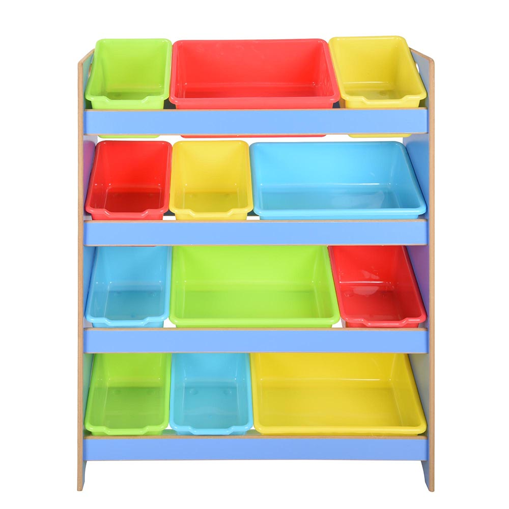 Blue Storage Kids Toy Box Playroom Furniture Bedroom Girls: Toy Bin Organizer Kids Childrens Storage Box Playroom