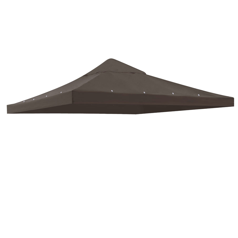 10x10-039-Gazebo-Canopy-Top-Replacement-1-Tier-Patio-Pavilion-UV30-Sunshade-Cover thumbnail 2