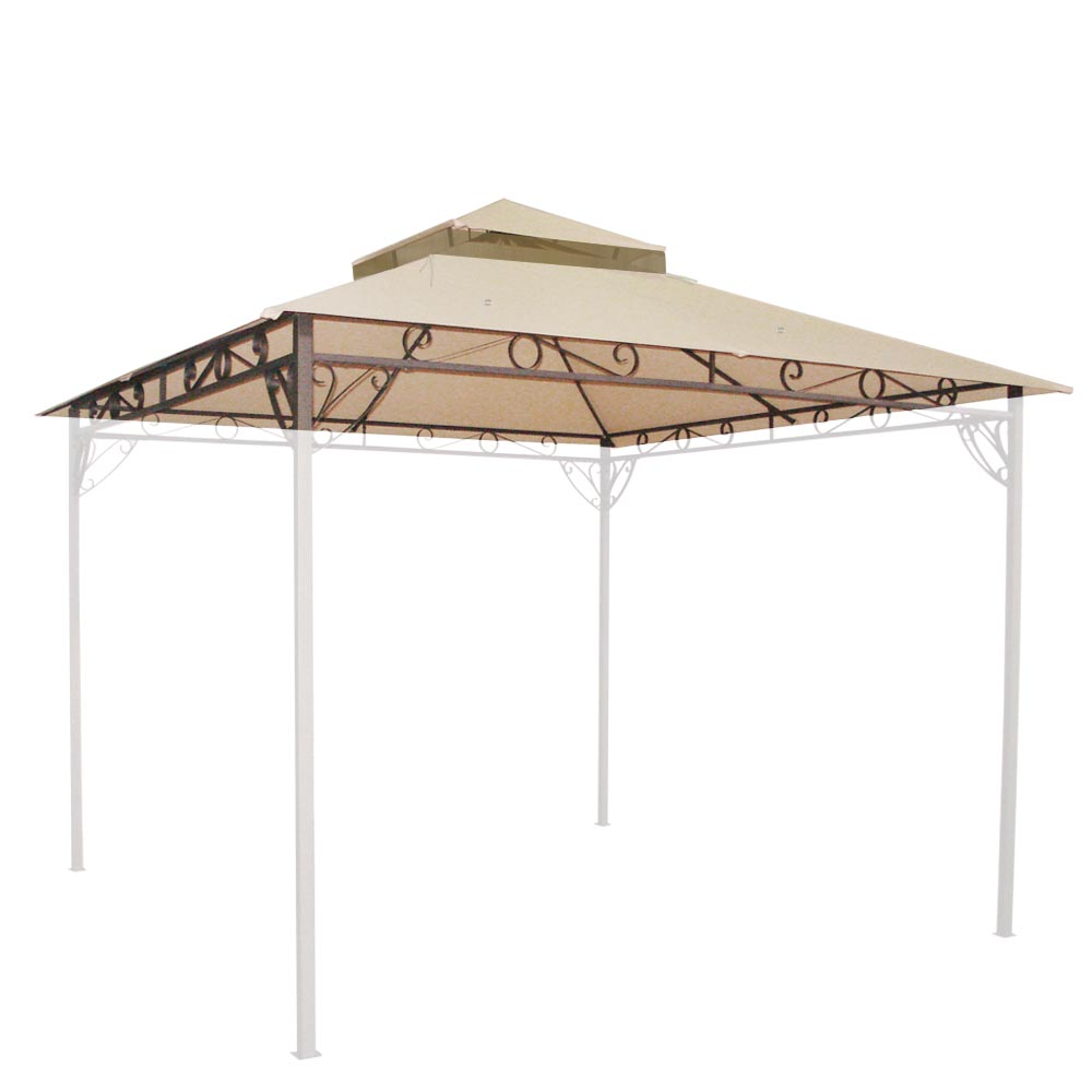 10.6x10.6u0027 2Tier Waterproof Gazebo Canopy Top Replacement Cover for Madaga Frame  sc 1 st  eBay & 10.6x10.6u0027 2Tier Waterproof Gazebo Canopy Top Replacement Cover ...