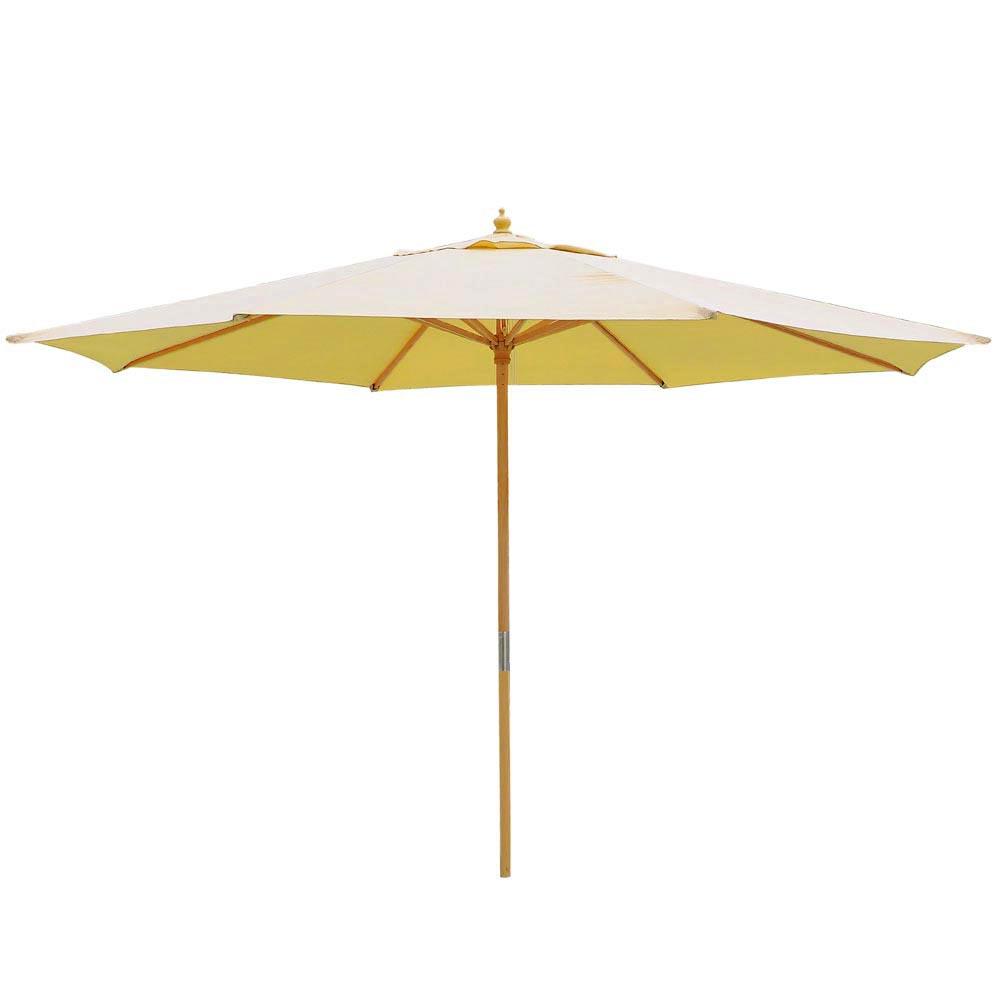 8-039-9-039-13-039-Outdoor-Patio-Wood-Umbrella-Wooden-Pole-Market-Beach-Garden-Sun-Shade thumbnail 6