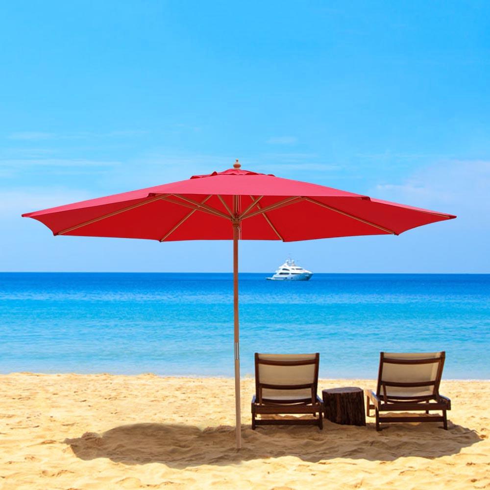 8-039-9-039-13-039-Outdoor-Patio-Wood-Umbrella-Wooden-Pole-Market-Beach-Garden-Sun-Shade thumbnail 33