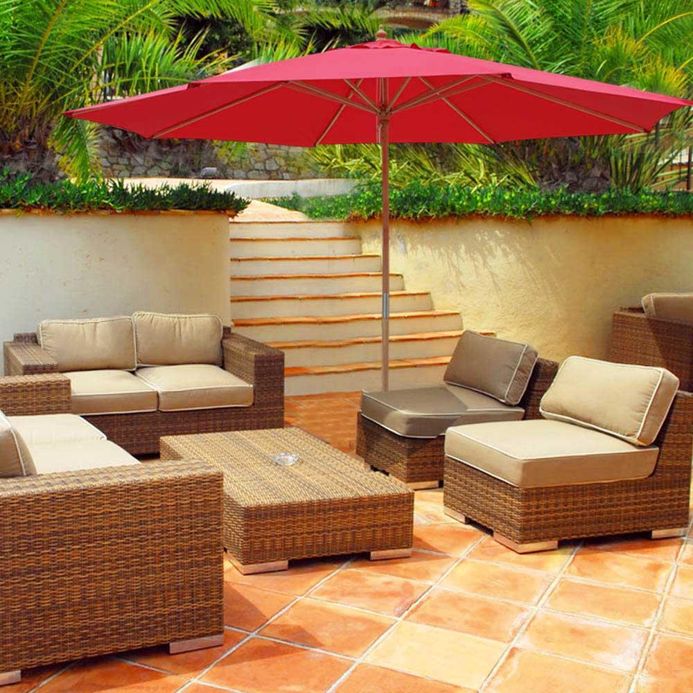 8-039-9-039-13-039-Outdoor-Patio-Wood-Umbrella-Wooden-Pole-Market-Beach-Garden-Sun-Shade thumbnail 34