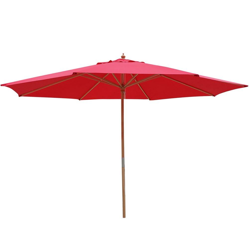8-039-9-039-13-039-Outdoor-Patio-Wood-Umbrella-Wooden-Pole-Market-Beach-Garden-Sun-Shade thumbnail 35