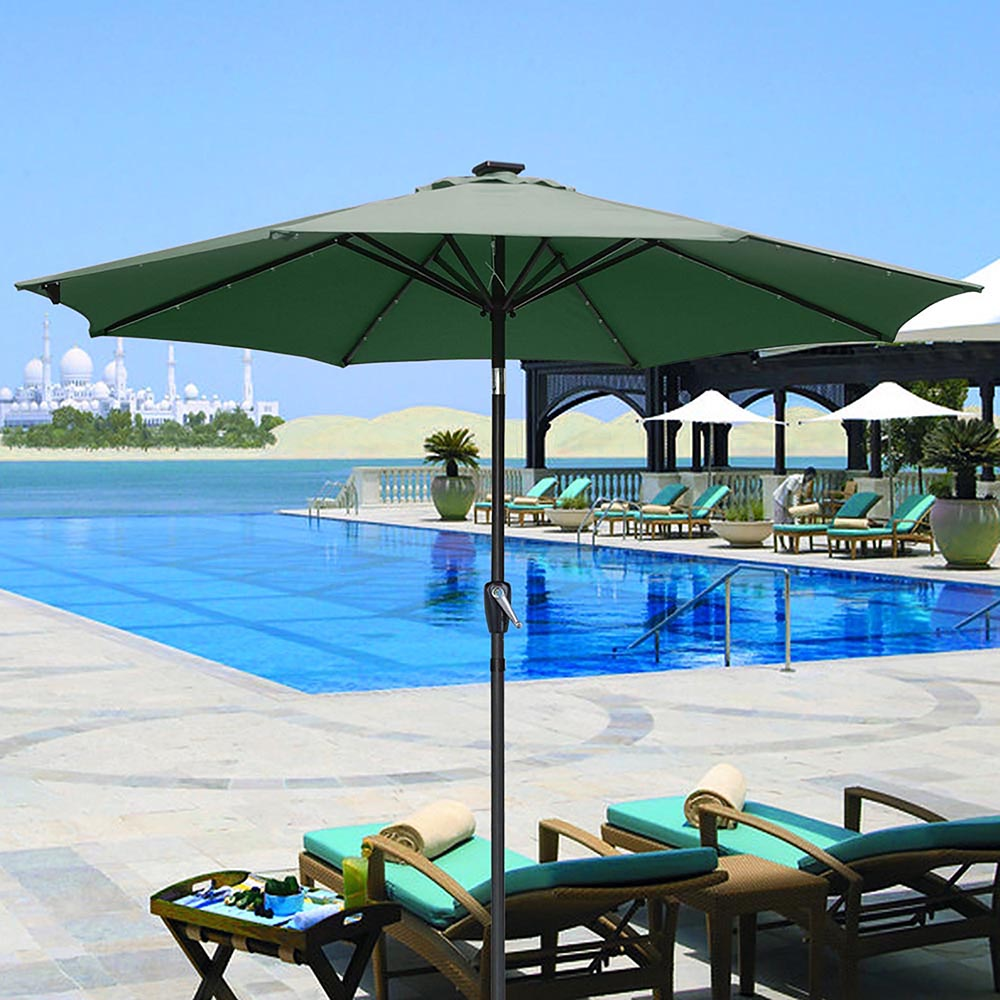 9-039-FT-8-Ribs-Patio-Outdoor-Aluminium-Umbrella-Solar-LED-Garden-Parasol-Sunshade