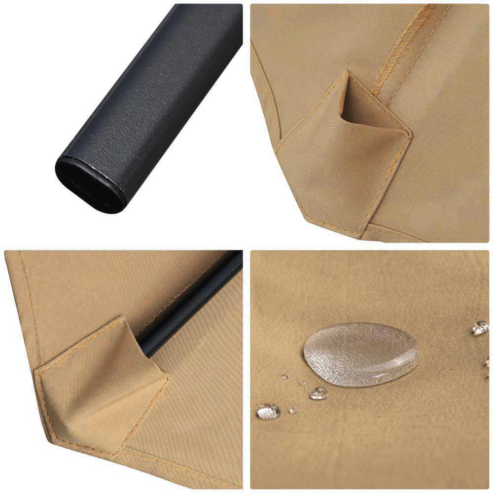 Outdoor-Patio-Umbrella-Aluminum-8ft-9ft-10ft-13ft-Common-LED-Option-Beach-Garden thumbnail 226