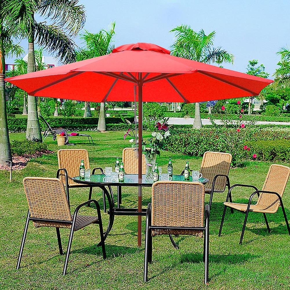 8-039-9-039-13-039-Outdoor-Patio-Wood-Umbrella-Wooden-Pole-Market-Beach-Garden-Sun-Shade thumbnail 102