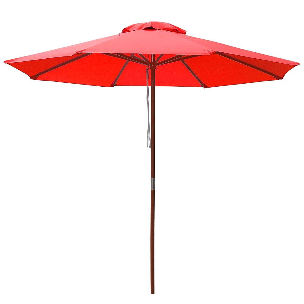 8-039-9-039-13-039-Outdoor-Patio-Wood-Umbrella-Wooden-Pole-Market-Beach-Garden-Sun-Shade thumbnail 104
