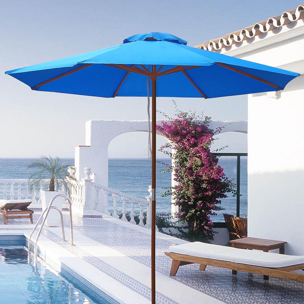 8-039-9-039-13-039-Outdoor-Patio-Wood-Umbrella-Wooden-Pole-Market-Beach-Garden-Sun-Shade thumbnail 83