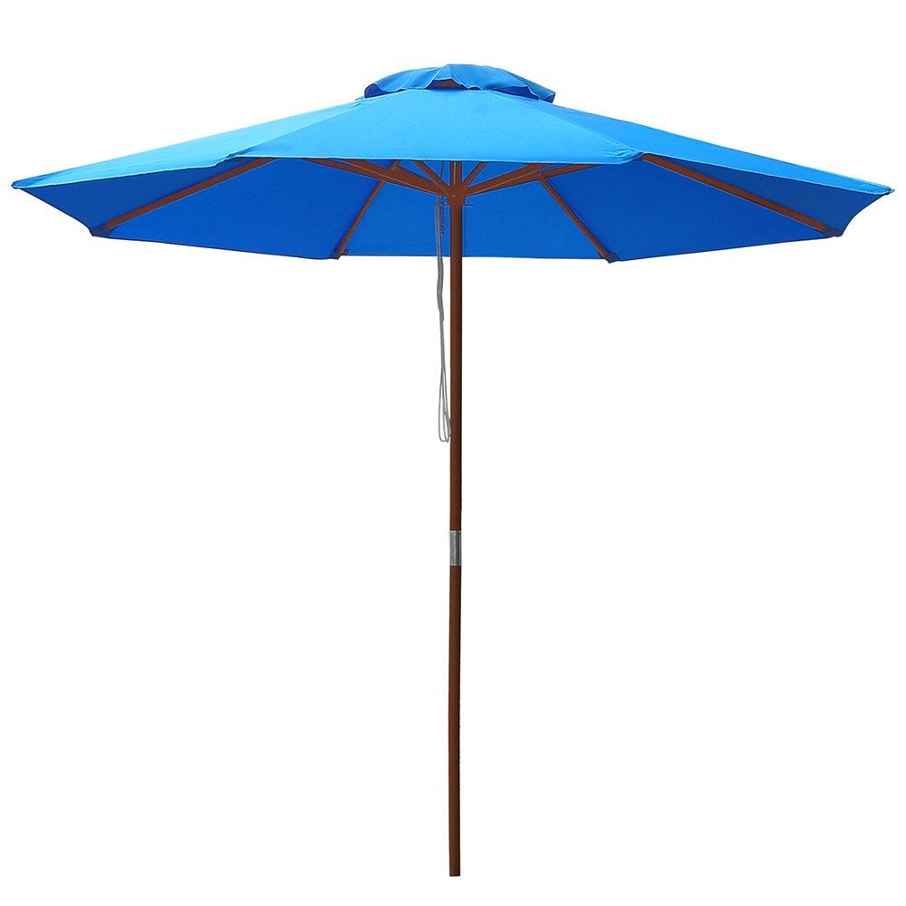 8-039-9-039-13-039-Outdoor-Patio-Wood-Umbrella-Wooden-Pole-Market-Beach-Garden-Sun-Shade thumbnail 84