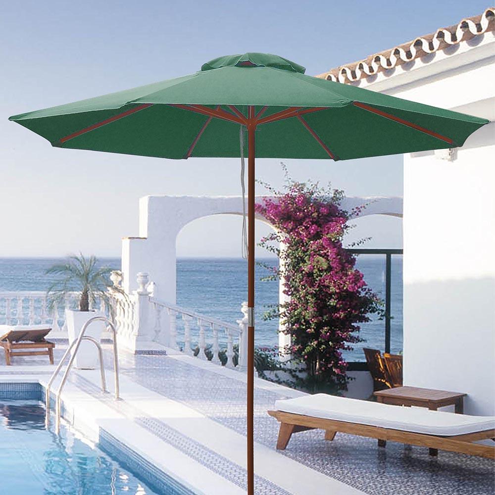 8-039-9-039-13-039-Outdoor-Patio-Wood-Umbrella-Wooden-Pole-Market-Beach-Garden-Sun-Shade thumbnail 93
