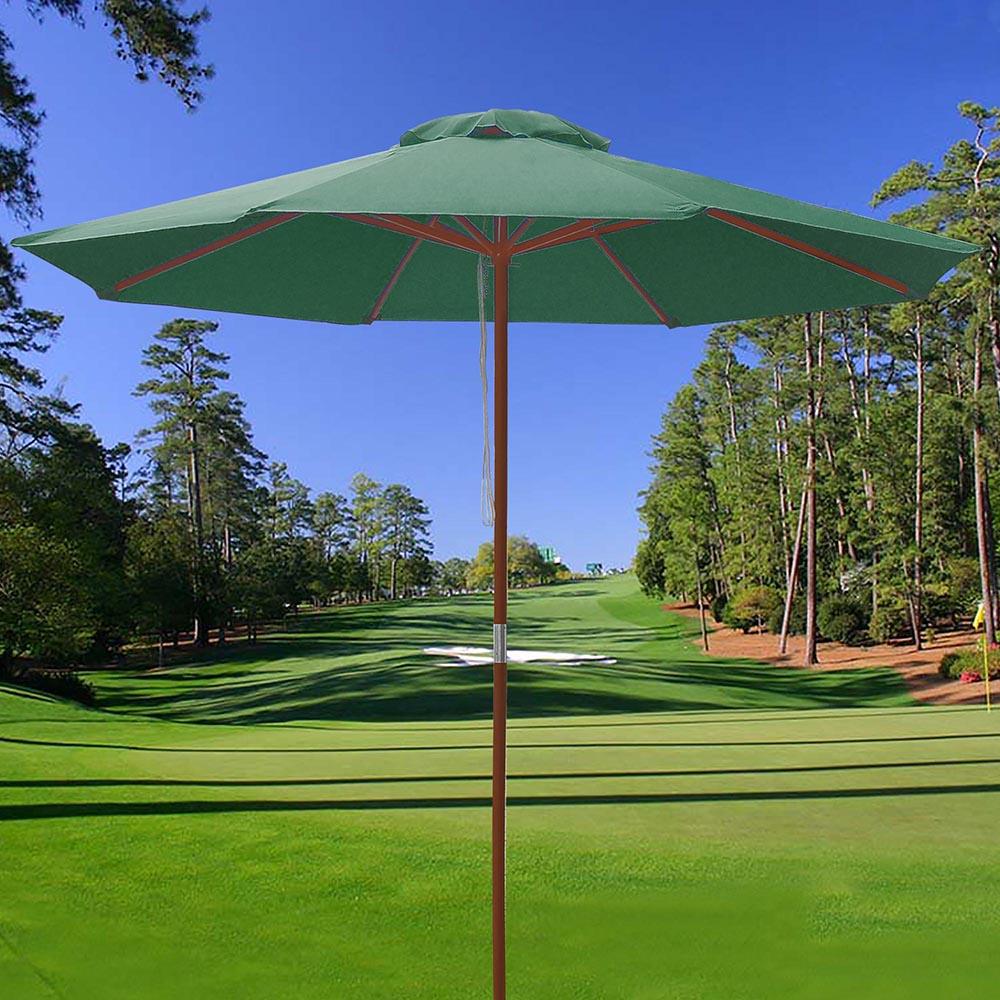 8-039-9-039-13-039-Outdoor-Patio-Wood-Umbrella-Wooden-Pole-Market-Beach-Garden-Sun-Shade thumbnail 94