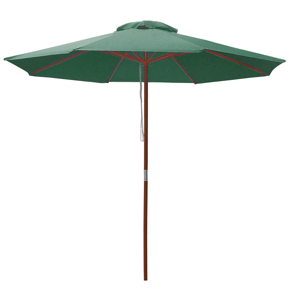 8-039-9-039-13-039-Outdoor-Patio-Wood-Umbrella-Wooden-Pole-Market-Beach-Garden-Sun-Shade thumbnail 95