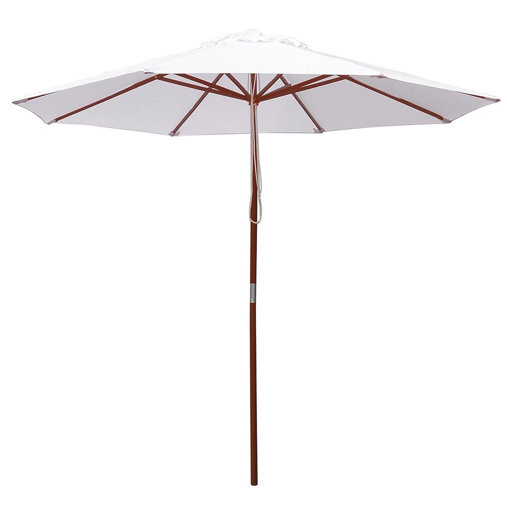 8-039-9-039-13-039-Outdoor-Patio-Wood-Umbrella-Wooden-Pole-Market-Beach-Garden-Sun-Shade thumbnail 119
