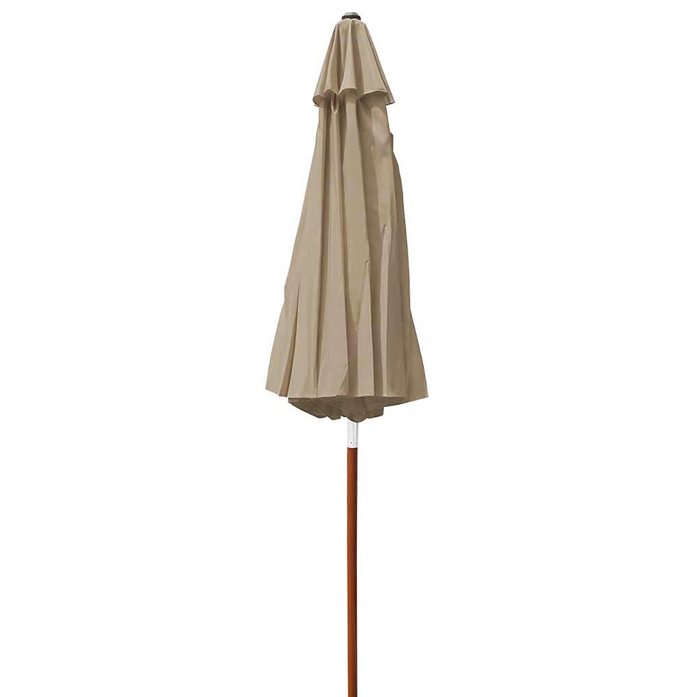 8-039-9-039-13-039-Outdoor-Patio-Wood-Umbrella-Wooden-Pole-Market-Beach-Garden-Sun-Shade thumbnail 112