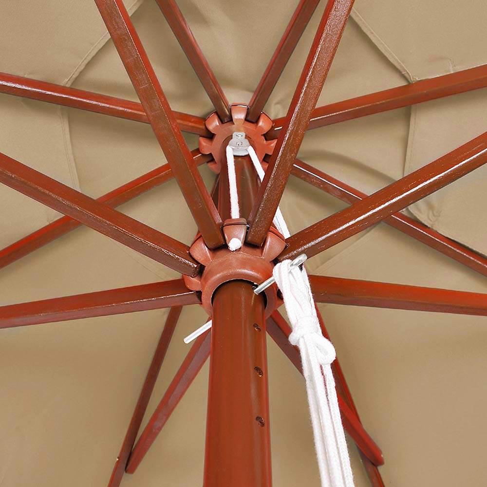 8-039-9-039-13-039-Outdoor-Patio-Wood-Umbrella-Wooden-Pole-Market-Beach-Garden-Sun-Shade thumbnail 114