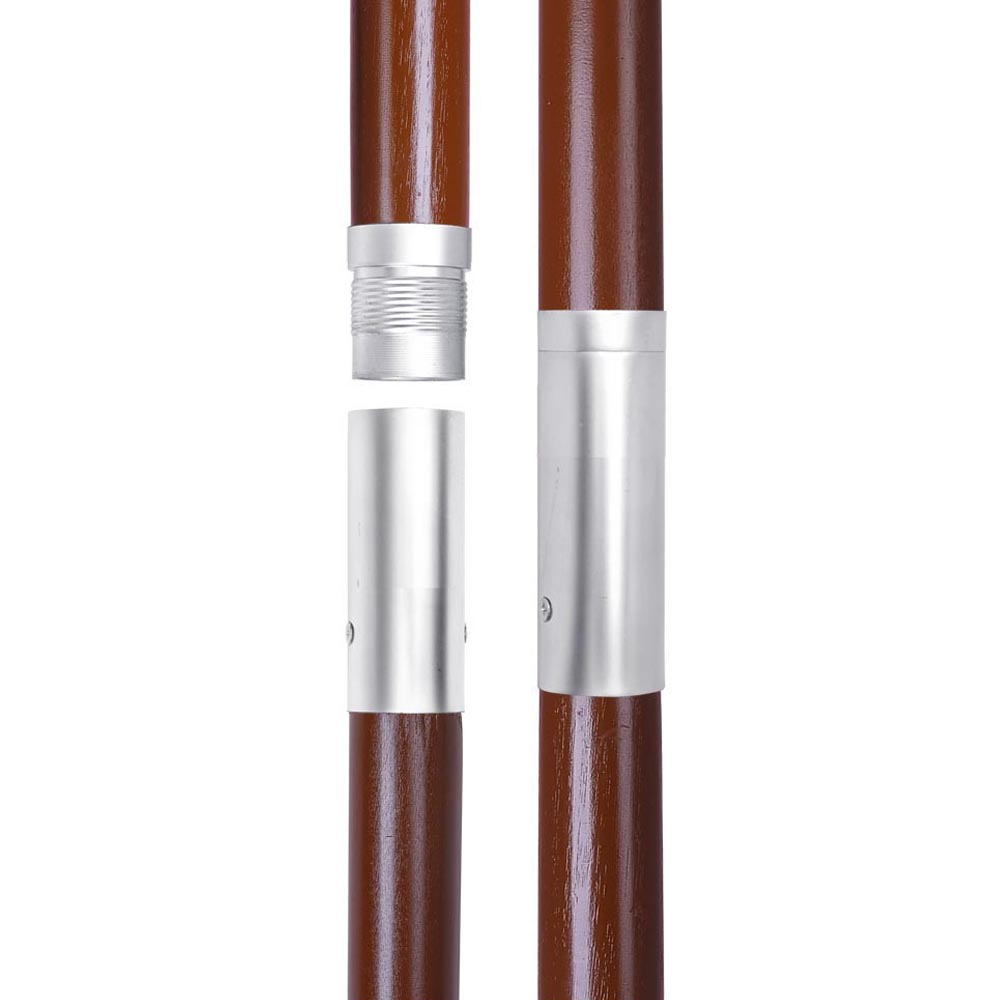 8FT 6 Ribs Patio Wood Umbrella Wooden Pole