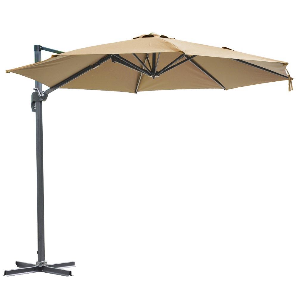10 Hanging Roma Offset Umbrella Outdoor Patio Sun Shade