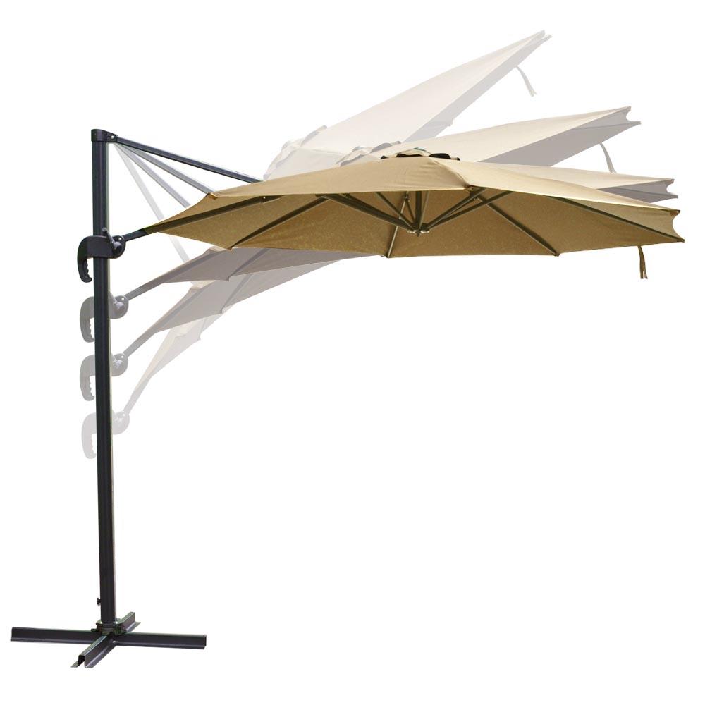 98e32b20ce818 10 ft Cantilever Umbrella Offset Patio Roma Outdoor Hanging Canopy 8 ...