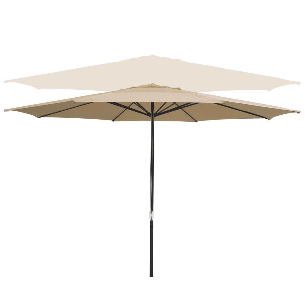Outdoor-Patio-Umbrella-Aluminum-8ft-9ft-10ft-13ft-Common-LED-Option-Beach-Garden thumbnail 124