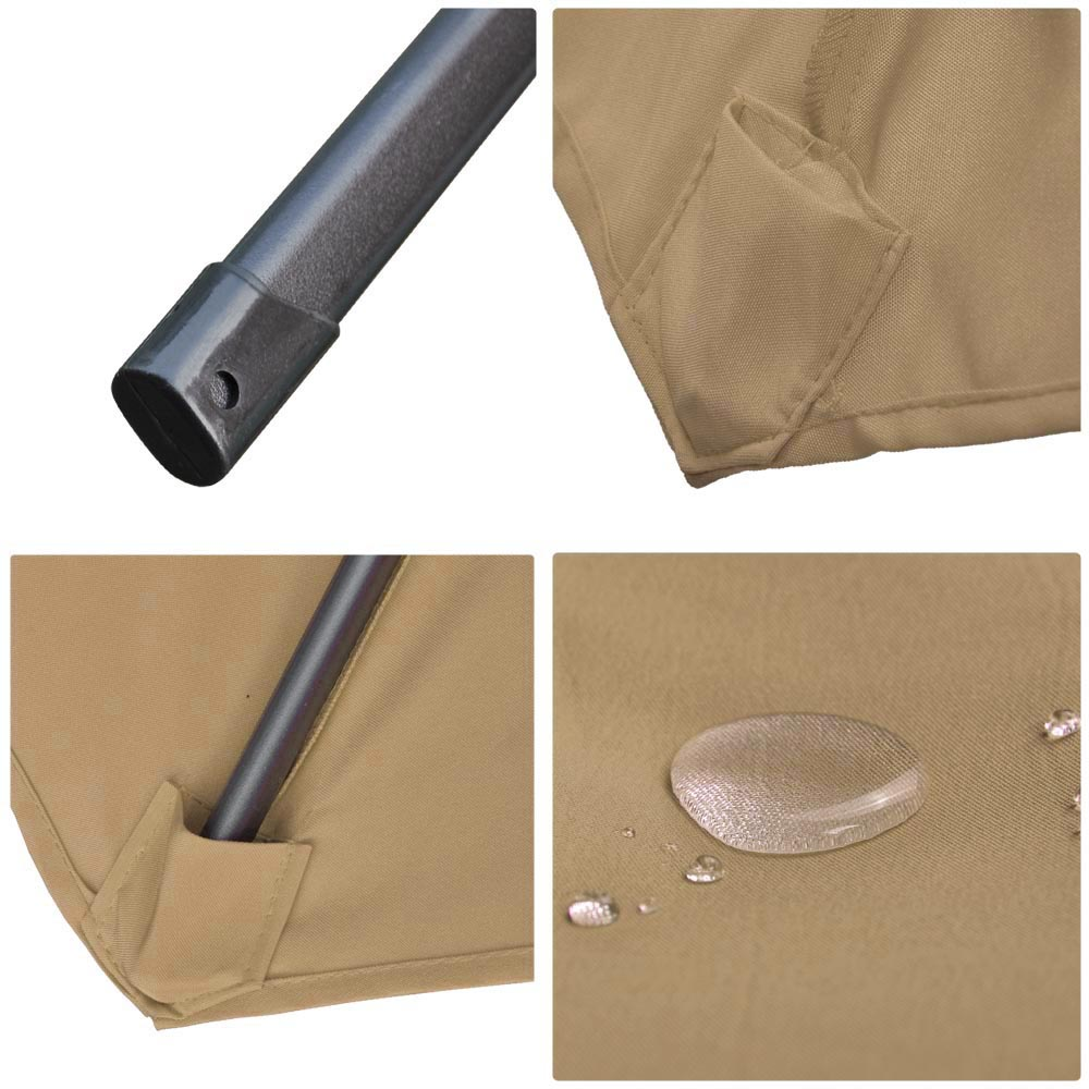 Outdoor-Patio-Umbrella-Aluminum-8ft-9ft-10ft-13ft-Common-LED-Option-Beach-Garden thumbnail 129