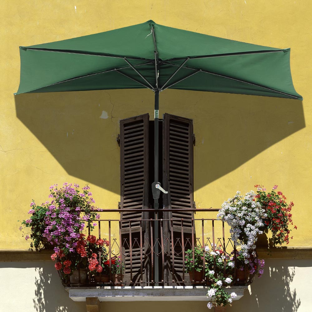 sun balcony com beige garden umbrella outdoor parasol wall camel patio half strong amazon dp shade