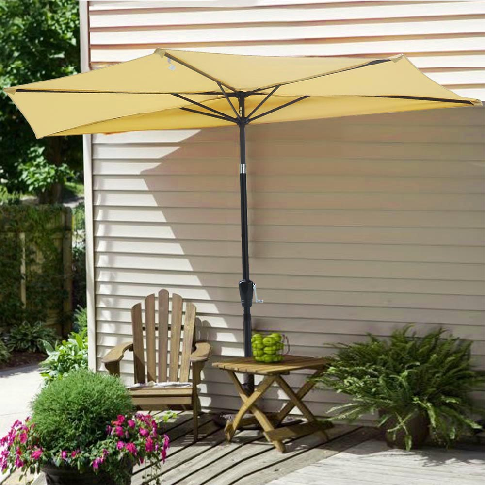 patio canvas l half base umbrella table outdoor