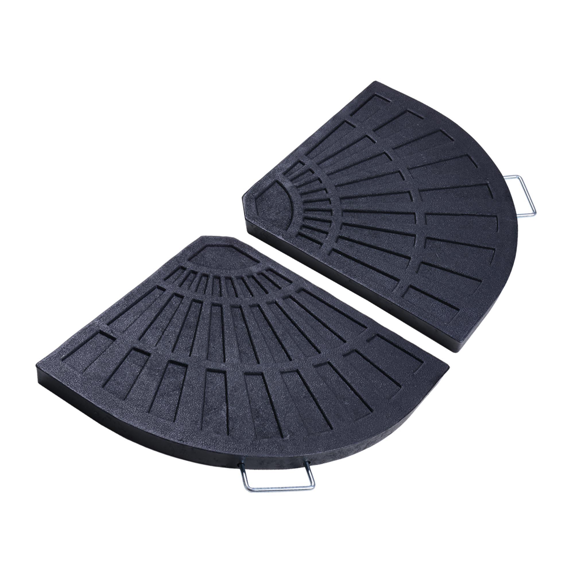 Patio Umbrella With Base: Patio Outdoor 2-Piece Cantilever Offset Umbrella Base
