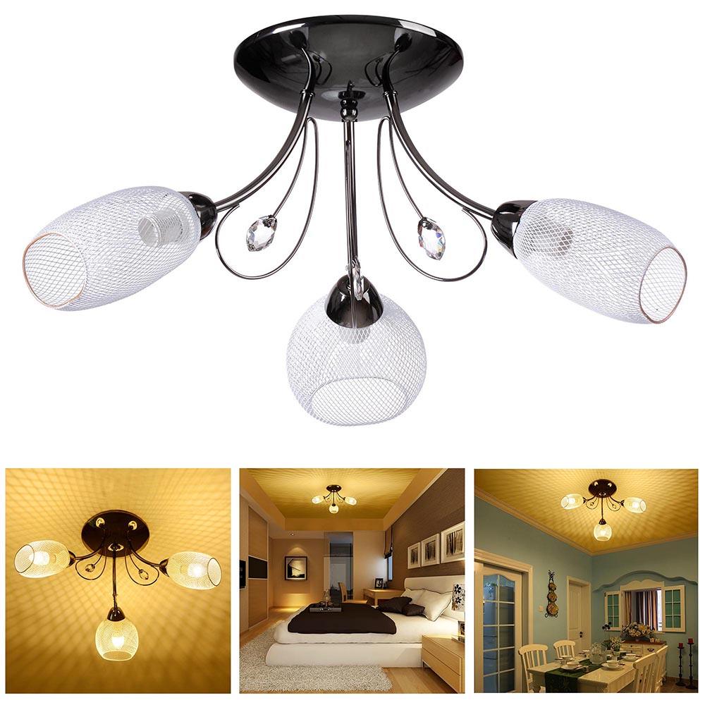 crystal modern pendant ceiling light chandelier lamp living dining room lighting ebay. Black Bedroom Furniture Sets. Home Design Ideas
