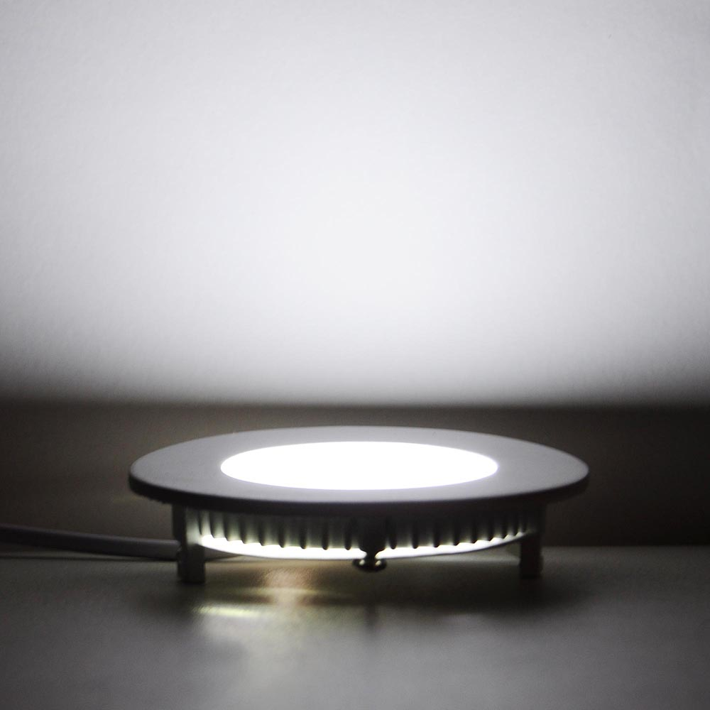 Led In Ceiling Lights: 10 Round LED Recessed Ceiling Panel Down Light Bulb 3W 7W